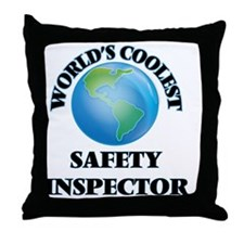 Safety Inspector Throw Pillow