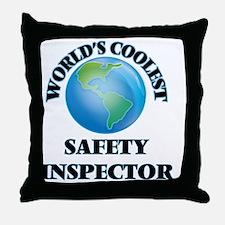 Safety Inspector Throw Pillow