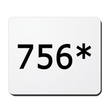 756 Asterisk Home Run Record Mousepad