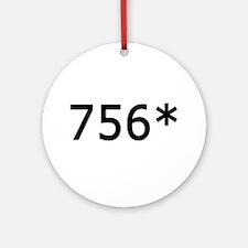 756 Asterisk Home Run Record Ornament (Round)