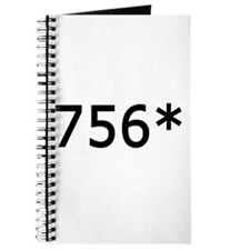 756 Asterisk Home Run Record Journal