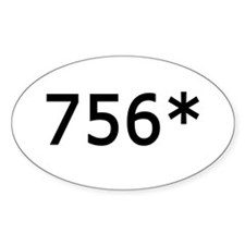 756 Asterisk Home Run Record Oval Decal