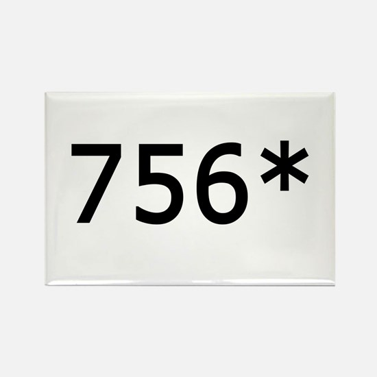 756 Asterisk Home Run Record Rectangle Magnet