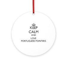 Keep calm and love Portuguese Poi Ornament (Round)