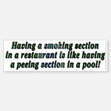 Smoking...restaurant - Bumper Bumper Sticker