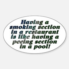 Smoking...restaurant - Decal