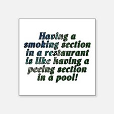 "Smoking...restaurant - Square Sticker 3"" x 3"""