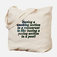 Smoking...restaurant - Tote Bag