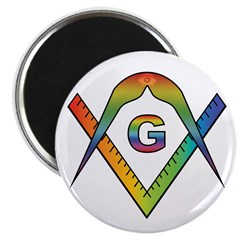 Masonic Rainbow & Eye S&C Magnet