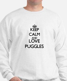 Keep calm and love Puggles Sweatshirt