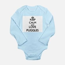 Keep calm and love Puggles Body Suit
