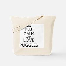 Keep calm and love Puggles Tote Bag