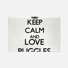 Keep calm and love Puggles Magnets