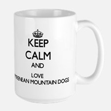 Keep calm and love Pyrenean Mountain Dogs Mugs