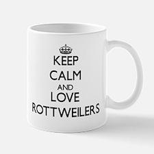 Keep calm and love Rottweilers Mugs