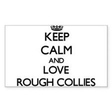 Keep calm and love Rough Collies Decal