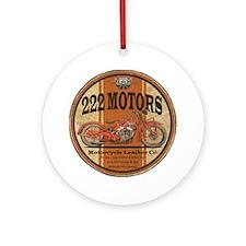 222 motors indian Ornament (Round)