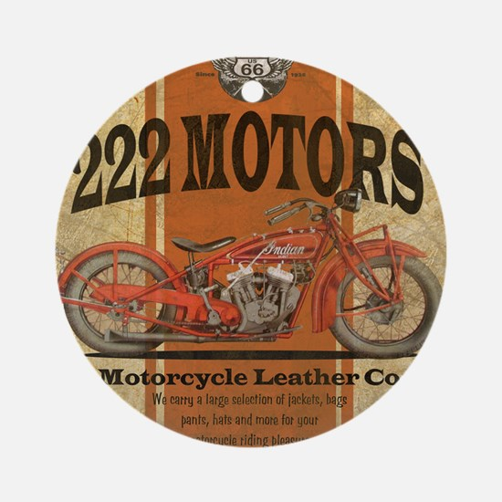 222 motors indian Ornament (Round)