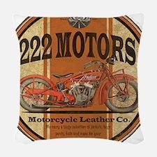 222 motors indian Woven Throw Pillow