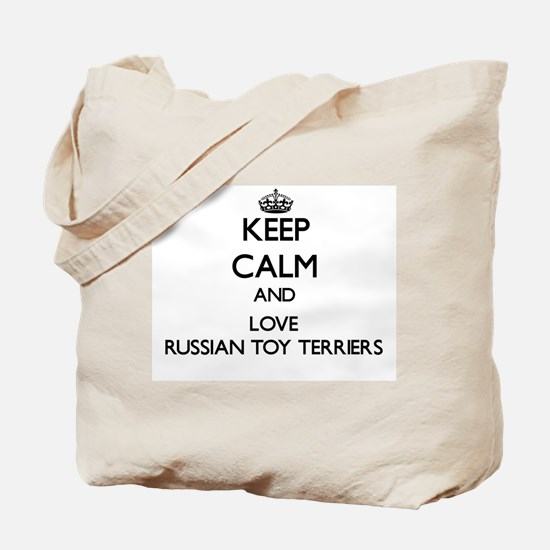 Keep calm and love Russian Toy Terriers Tote Bag
