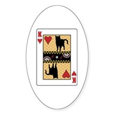 King Chartreux Oval Decal