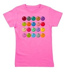 Many Bowling Balls Girl's Tee