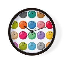 Many Bowling Balls Wall Clock