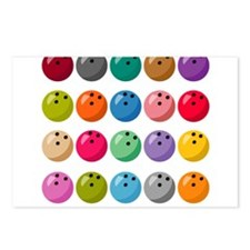 Many Bowling Balls Postcards (Package of 8)
