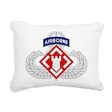 20th Engineer (Airborne) Rectangular Canvas Pillow