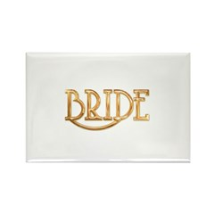Bride (shiny gold) Rectangle Magnet (100 pack)