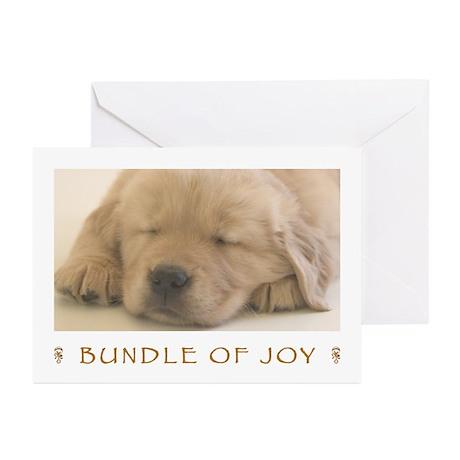 Golden Retriever Bundle of Joy Announcement Cards