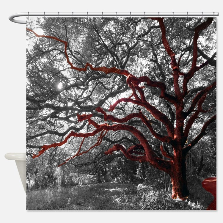 """Photo Tree Branch Shower Curtain-""""The Growth&"""