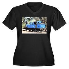 Goldfields blue steam locomotive Plus Size T-Shirt