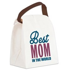Best Mom In The World Canvas Lunch Bag