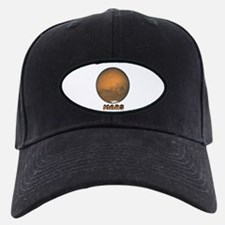 Mars Planet Black Baseball Cap