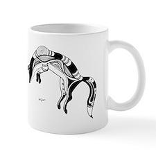 Native american black wolf Mug