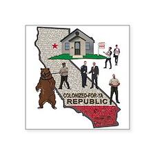 """Colonized-for-ya Republic Square Sticker 3"""" x 3"""""""