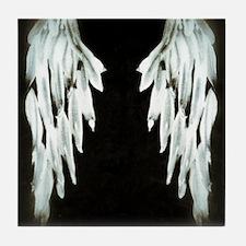 Glowing Angel Wings Tile Coaster
