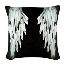 Glowing Angel Wings Woven Throw Pillow