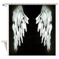 Glowing Angel Wings Shower Curtain