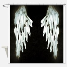 Glowing Angel Wings Shower Curtain
