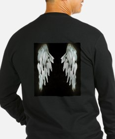 Glowing Angel Wings Long Sleeve T-Shirt