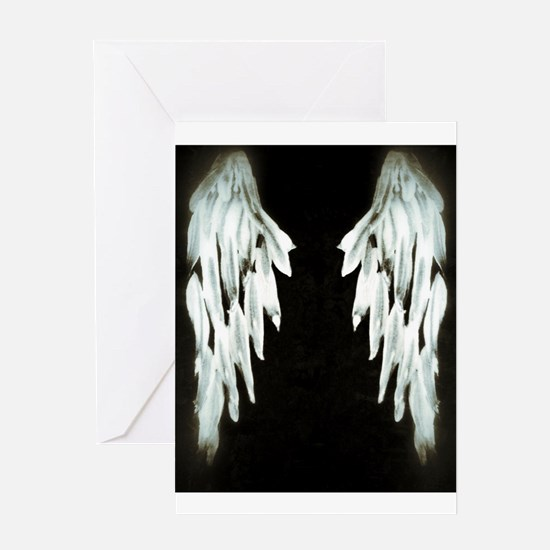 Glowing Angel Wings Greeting Cards