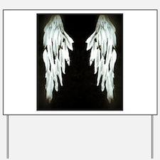 Glowing Angel Wings Yard Sign