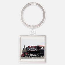 Old Alaska Railroad steam locomotive eng Keychains
