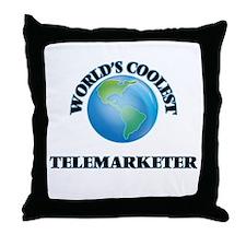 Telemarketer Throw Pillow