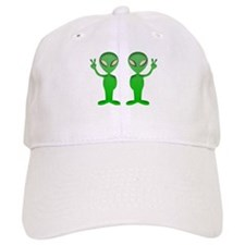 Green Alien Shadow Twin Baseball Baseball Cap