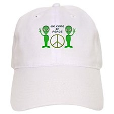 Green Alien Shadow Baseball Baseball Cap