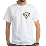 Masonic Rainbow & Eye S&C White T-Shirt