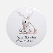 Your Text Here Honey Bunny Ornament (Round)